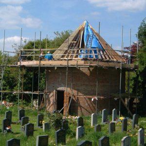 Dovecote under repair